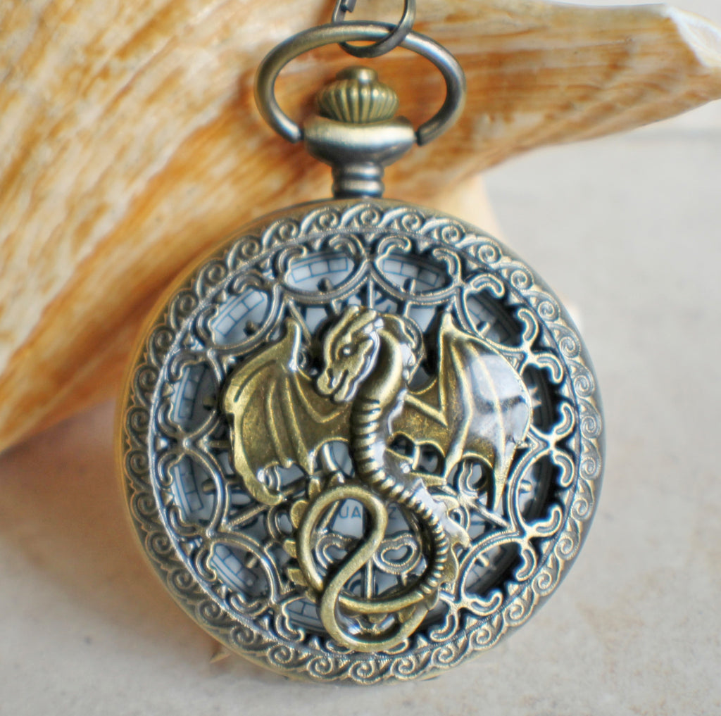 Dragon Pocket Watch Battery Operated - Char's Favorite Things - 1