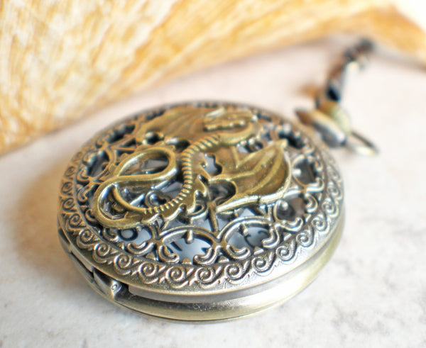 Dragon Mechanical Pocket Watch - Char's Favorite Things - 2