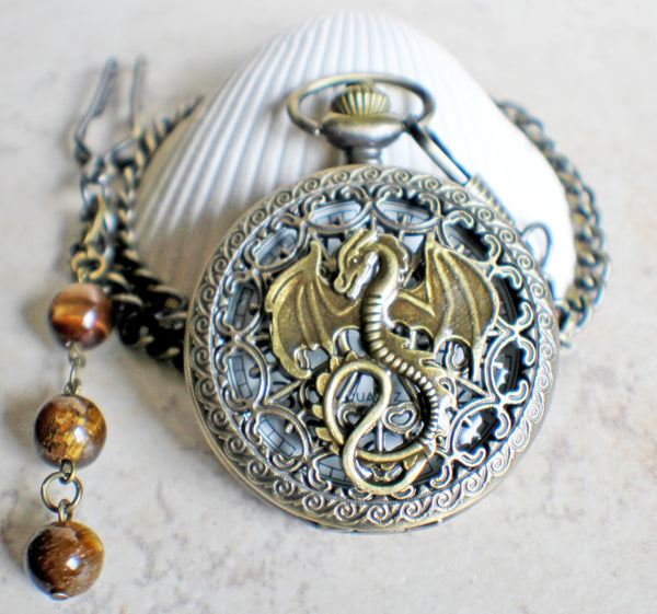 Dragon Pocket Watch Battery Operated - Char's Favorite Things - 3
