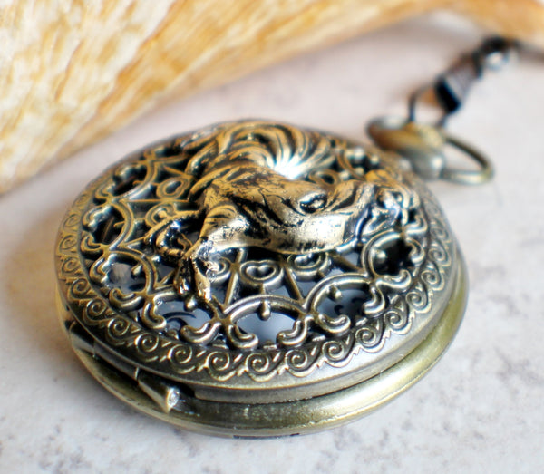 Rooster pocket watch,  Rooster pocket watch  in bronze - Char's Favorite Things - 3