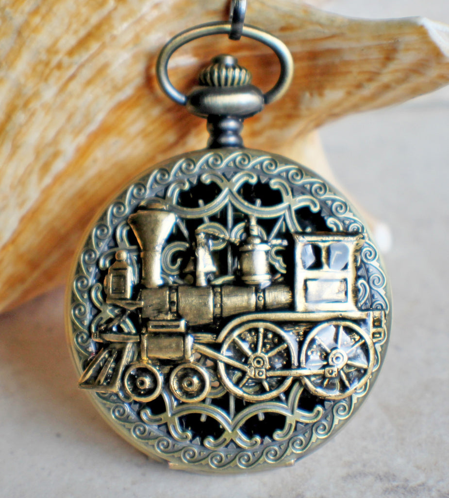 Train Mechanical Pocket Watch - Char's Favorite Things - 1