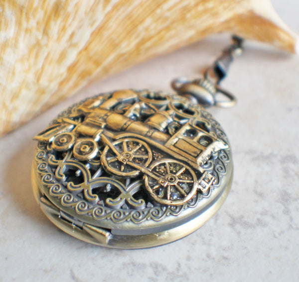 Train Mechanical Pocket Watch - Char's Favorite Things - 2