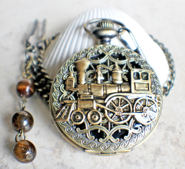 Train Mechanical Pocket Watch - Char's Favorite Things - 3