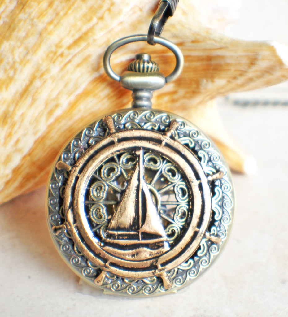 Sailboat Mechanical Pocket Watch - Char's Favorite Things - 1