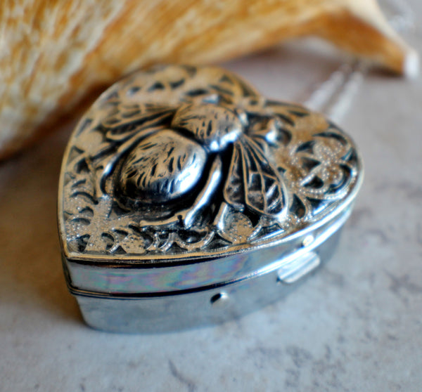 Silver Bumble Bee Music Box Locket - Char's Favorite Things - 2