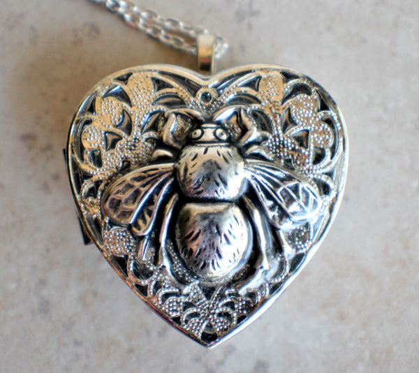 Silver Bumble Bee Music Box Locket - Char's Favorite Things - 3
