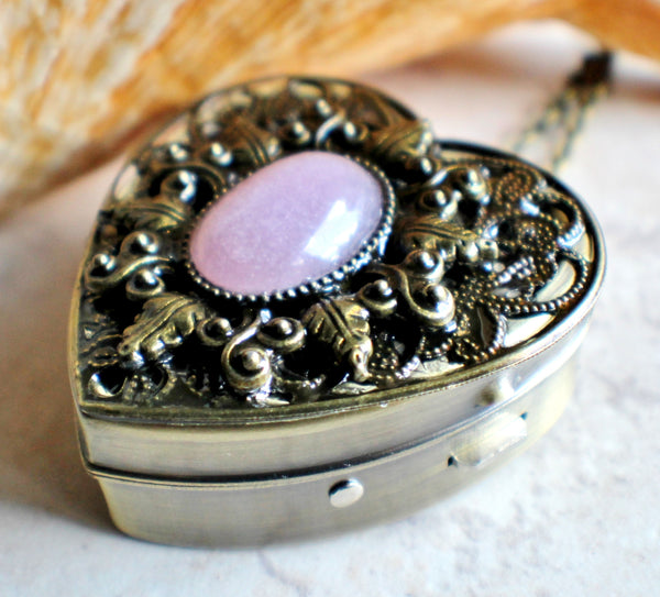 Rose Quartz Music Box Heart Locket - Char's Favorite Things - 2
