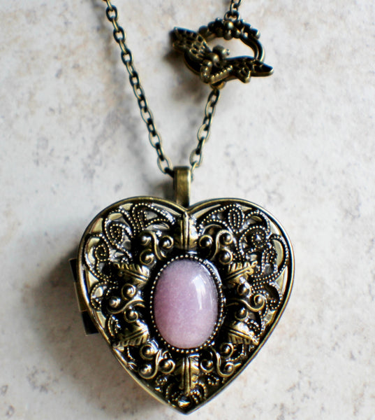 Rose Quartz Music Box Heart Locket - Char's Favorite Things - 4