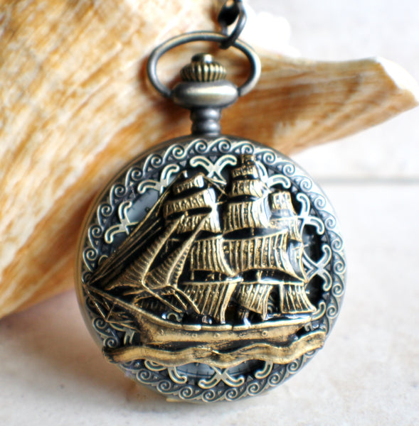 Ship Mechanical Pocket Watch - Char's Favorite Things - 1