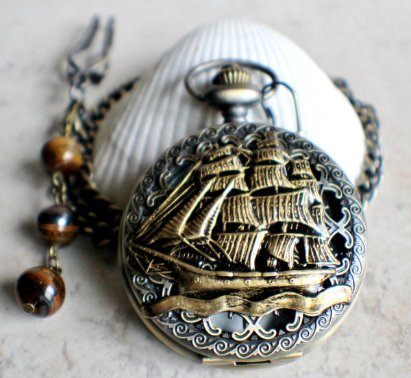 Ship Mechanical Pocket Watch - Char's Favorite Things - 2