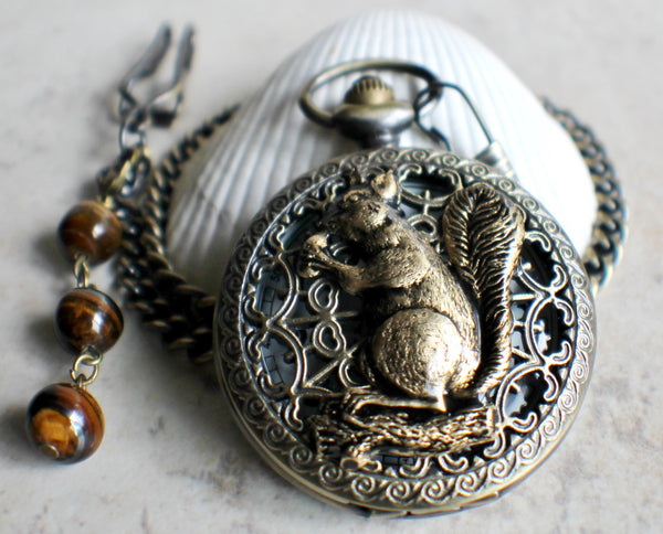 Squirrel Battery Operated Pocket Watch - Char's Favorite Things - 2