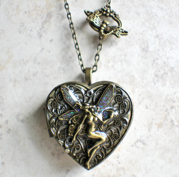 Bronze Fairy Music Box Locket - Char's Favorite Things - 4