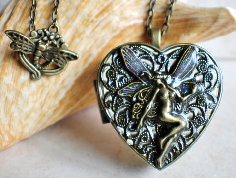 Bronze Fairy Music Box Locket - Char's Favorite Things - 1