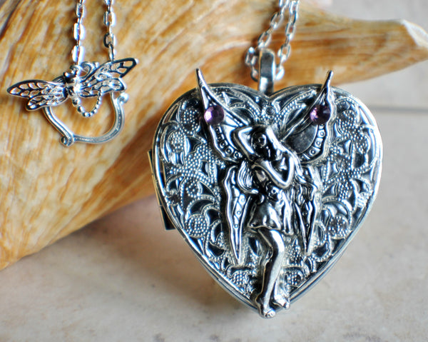 Silver Fairy Music Box Locket - Char's Favorite Things - 1