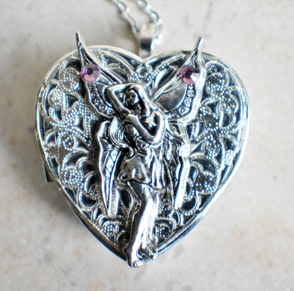 Silver Fairy Music Box Locket - Char's Favorite Things - 3