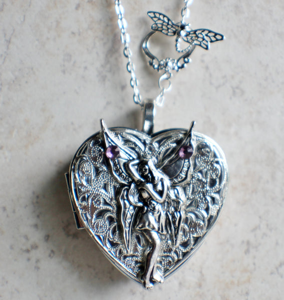 Silver Fairy Music Box Locket - Char's Favorite Things - 4