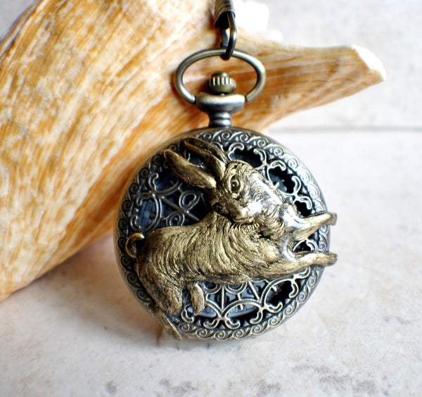 Rabbit Battery Operated Pocket Watch - Char's Favorite Things - 1
