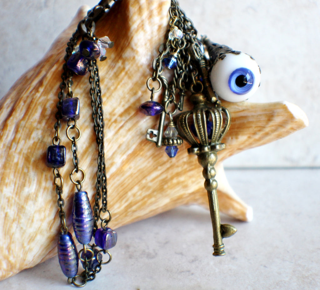 Blue Evil Eye Necklace - Char's Favorite Things - 1