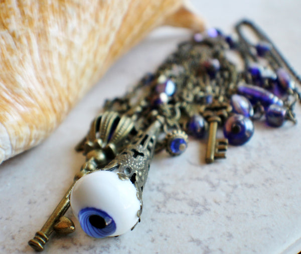 Blue Evil Eye Necklace - Char's Favorite Things - 4