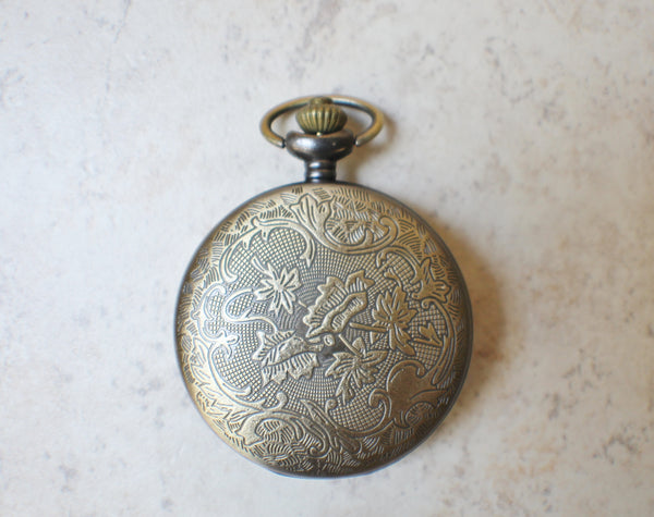 Owl pocket watch, mens pocket watch with owl mounted on front case - Char's Favorite Things - 5