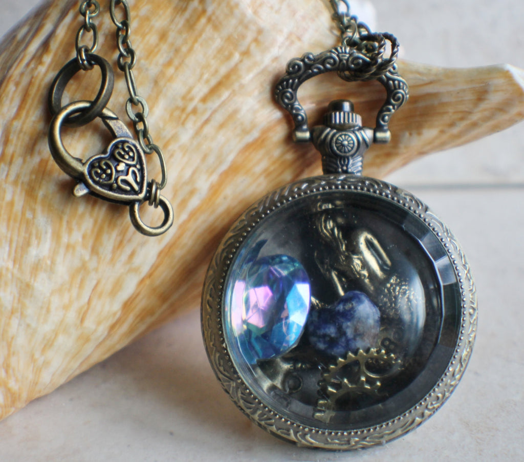 Mermaid Pocket Watch Case Locket - Char's Favorite Things - 1