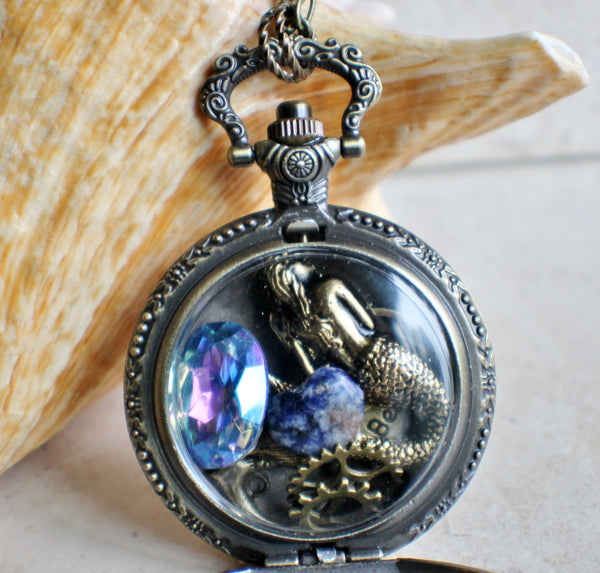 Mermaid Pocket Watch Case Locket - Char's Favorite Things - 3