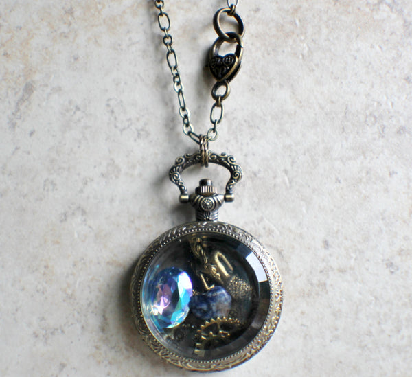 Mermaid Pocket Watch Case Locket - Char's Favorite Things - 5