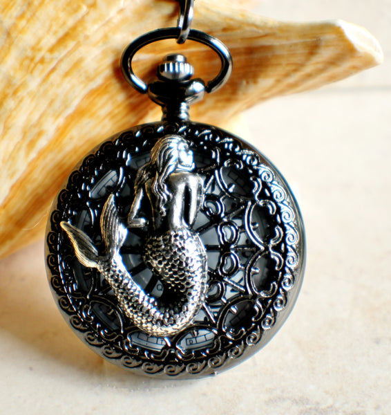 Mermaid battery operated pocket watch. - Char's Favorite Things - 1
