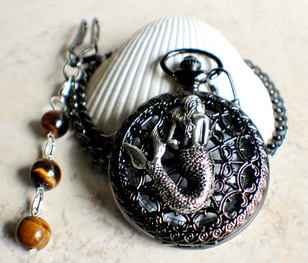 Mermaid battery operated pocket watch. - Char's Favorite Things - 3