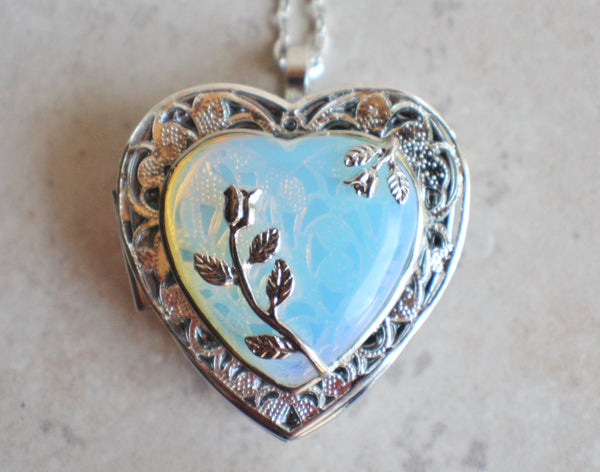 White Opal Quartz Music Box Locket - Char's Favorite Things - 3