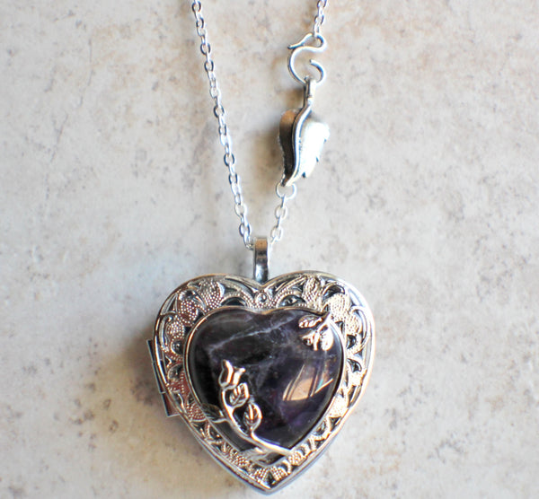 Amethyst Quartz Music Box Locket - Char's Favorite Things - 4