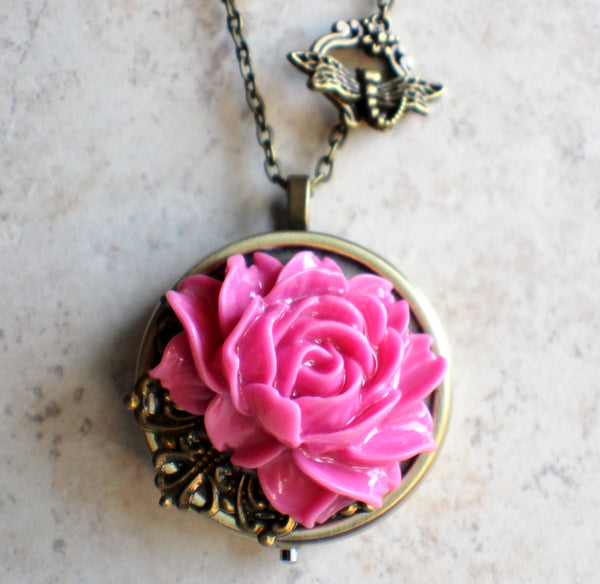 Pink Rose Music Box Locket - Char's Favorite Things - 4
