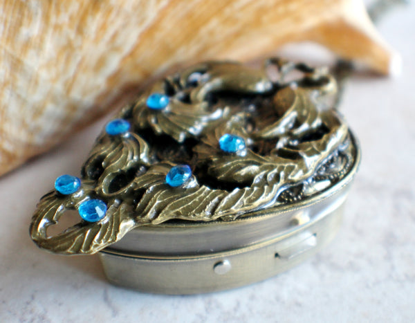 Peacock Music Box Locket - Char's Favorite Things - 2