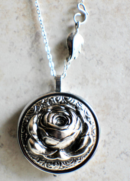 Music Box Locket with Silver Rose - Char's Favorite Things - 4
