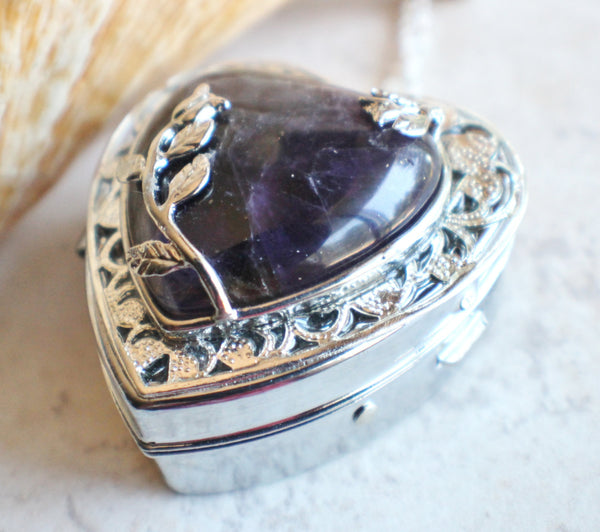 Amethyst Quartz Music Box Locket - Char's Favorite Things - 2