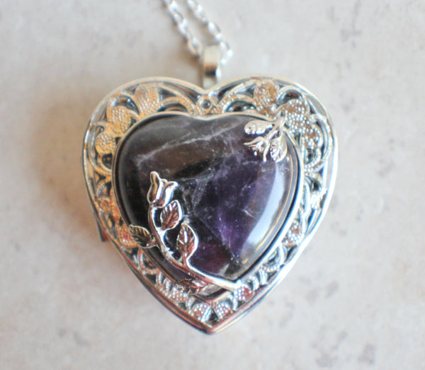 Amethyst Quartz Music Box Locket - Char's Favorite Things - 3