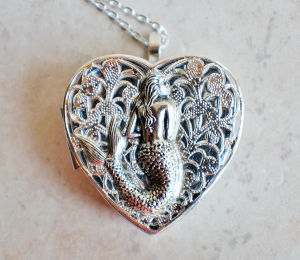 Silver Mermaid Music Box Locket - Char's Favorite Things - 3