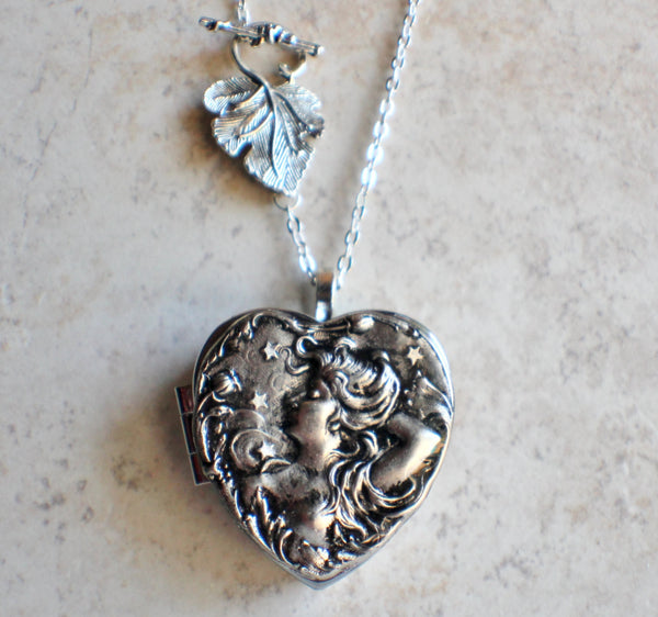 Victorian Maiden Music Box Locket In Silver - Char's Favorite Things - 4