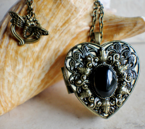 Agate Music Box Locket