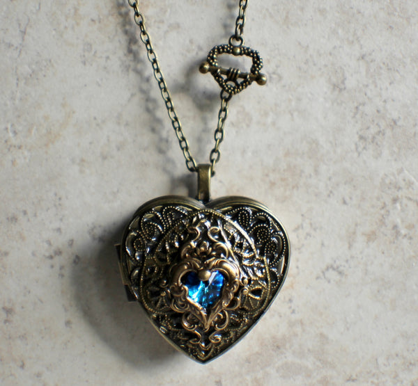 Swarvorski Heart Music Box Locket