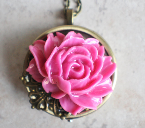 Pink Rose Music Box Locket - Char's Favorite Things - 3