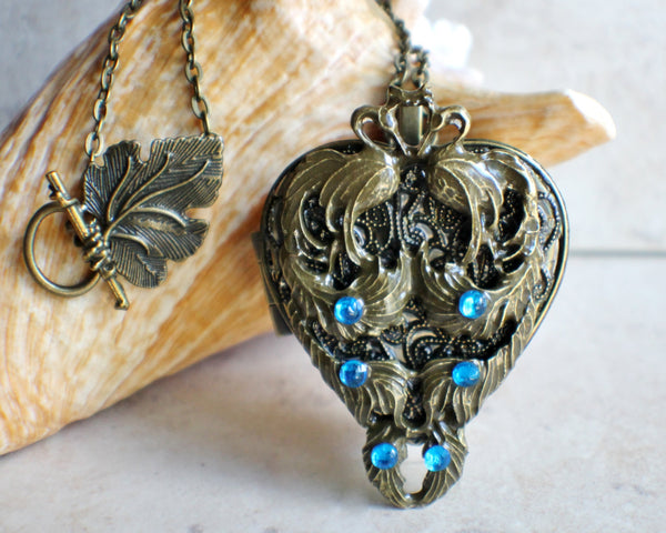 Peacock Music Box Locket - Char's Favorite Things - 1
