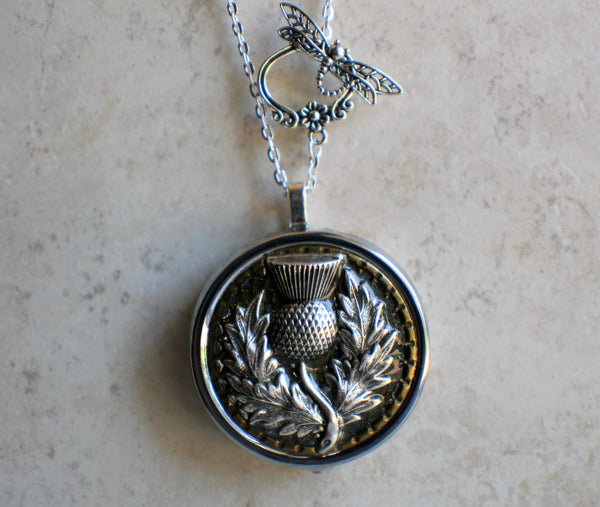 Thistle Music Box Locket