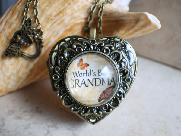 Music box locket for Grandma