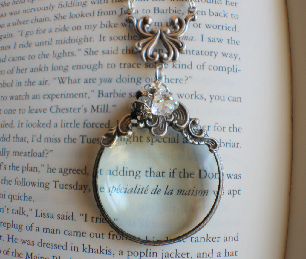 Victorian scroll magnifying glass pendant chars favorite things victorian scroll magnifying glass pendant aloadofball Image collections