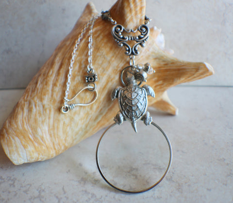 Turtle Magnifying Glass Pendant