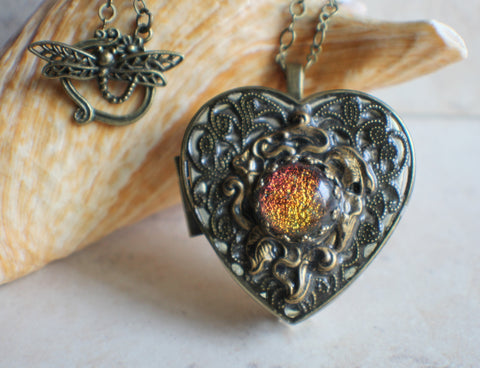 Calla Lily Music Box Locket