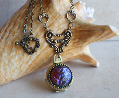 Red Dragons Breath Multi Photo Locket