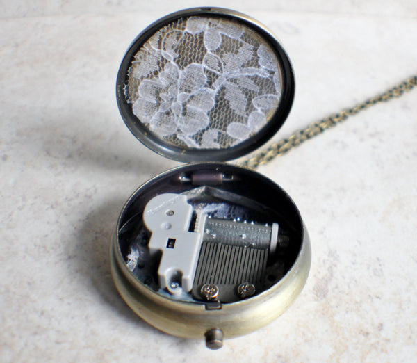 Bumblebee Music Box Locket