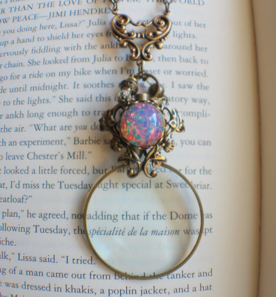 Morning Glory Magnifying Glass Pendant
